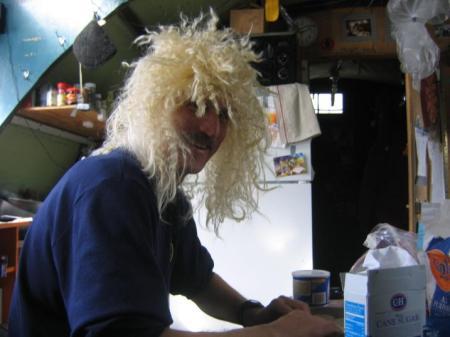 Bill making pies.