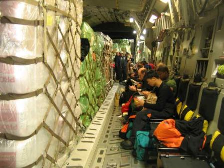 Inside the C-17.